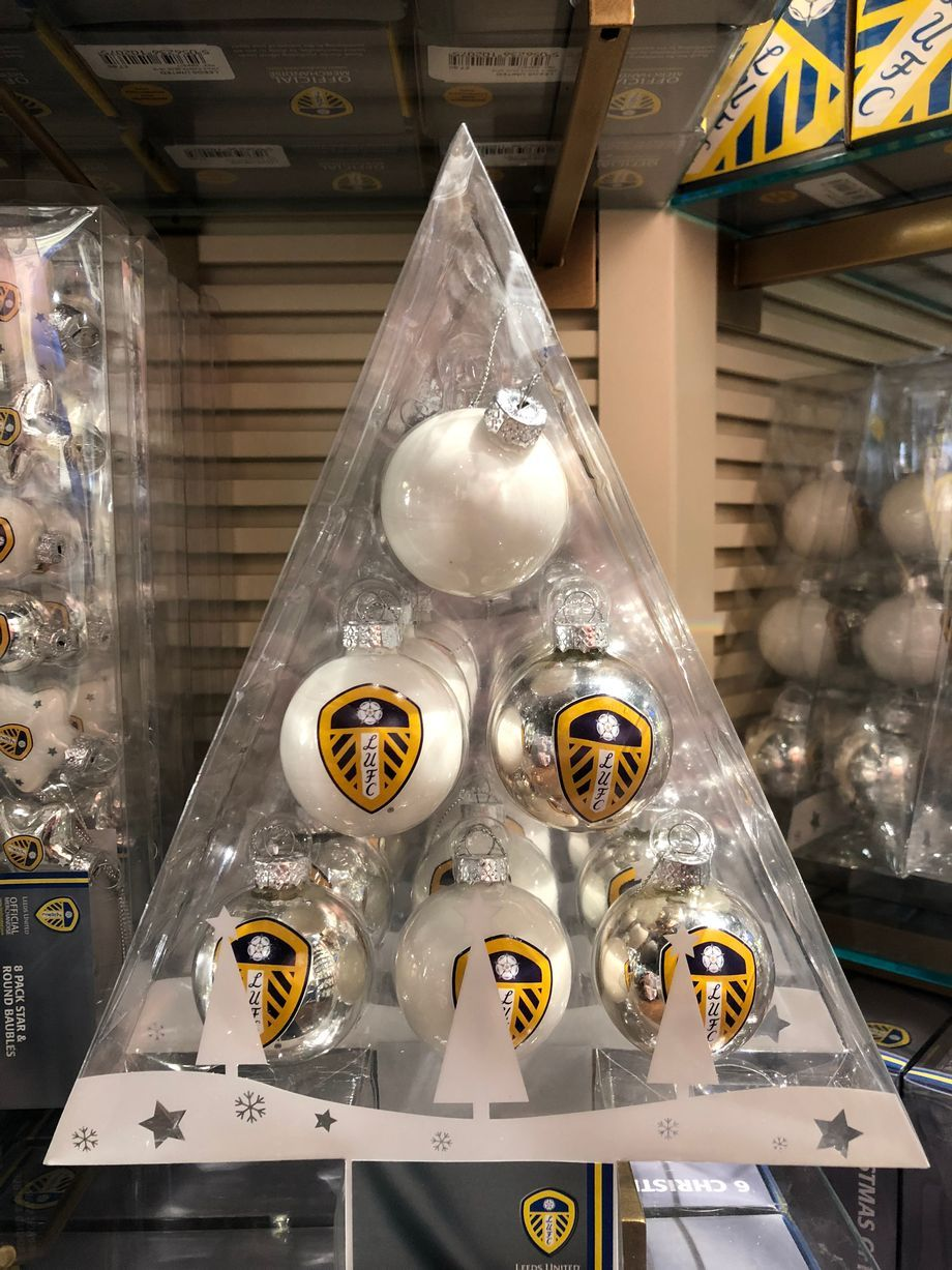 The Gifts You Can Get For Leeds United Fans This Christmas Christmas Decorations Uk Christmas Balloons Victorian Christmas Tree