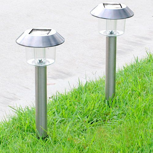 Super Bright Wireless Stainless Steel Color Changing Solar Garden Light 4 Pcs By Gtmax 31 15 Up To 10 Hours Of Light When Dar Garden Lighting Solar