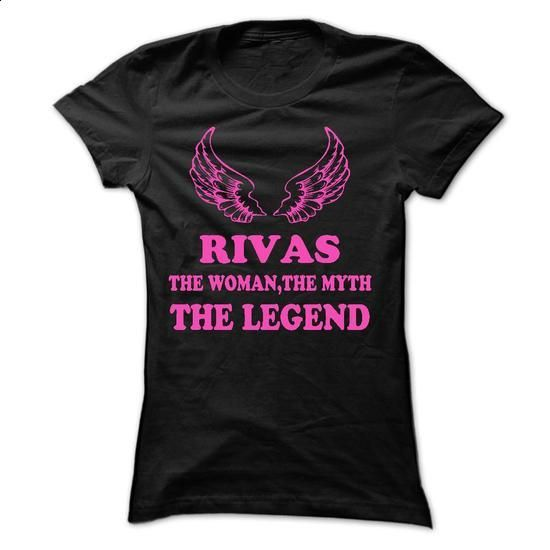 RIVAS - The Woman The Myth The Legend - #long shirt #funny hoodie. ORDER HERE => https://www.sunfrog.com/Names/RIVAS--The-Woman-The-Myth-The-Legend.html?68278
