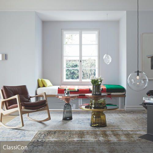 Daybed in fensternische einrichten livingroom wohnzimmer fenster und nische - Bett unterm fenster ...
