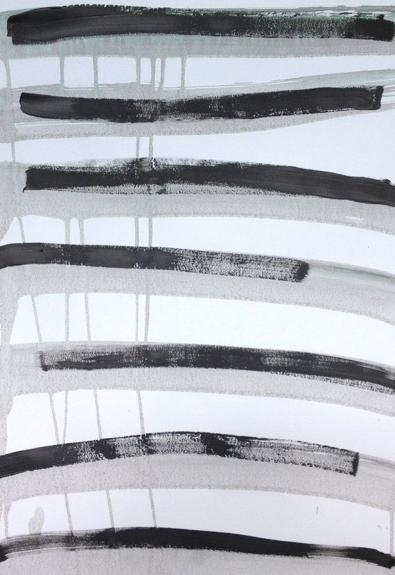 Minimalist abstract black grey painting on by AbstractbyMira