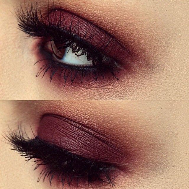 Maroon eyes Makeup ideas Pinterest Maquillaje, Ojos y