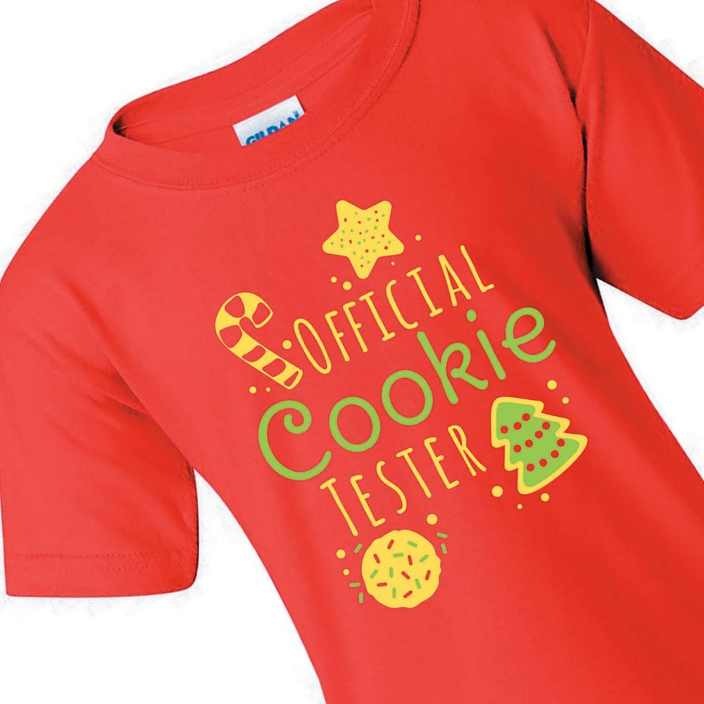 Official Cookie Tester Youth T Shirt Large In 2020 Christmas Shirts For Kids Toddler Christmas Shirt Matching Christmas Shirts