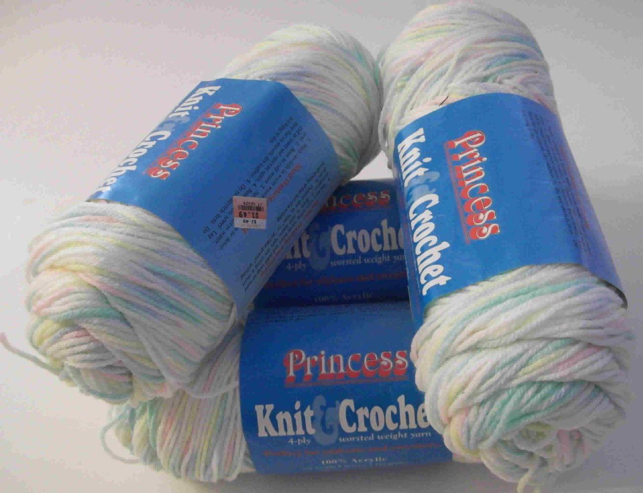 Coats and Clark Princess Knit and Crochet Yarn Nursery Rhymes