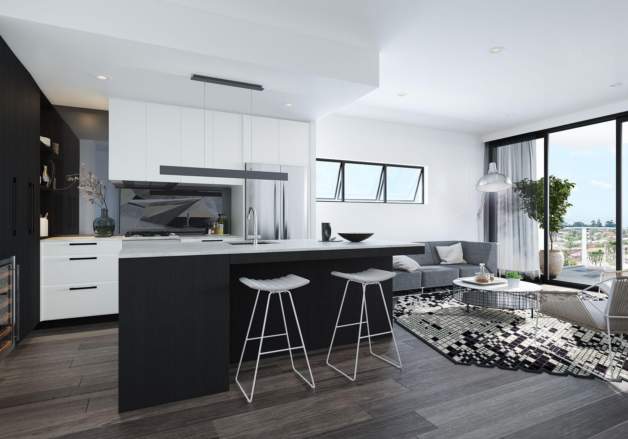 Argentum Renders Kitchen Design Apartment Living Multi Residential Architecture Interior DesignResidential ArchitectureBrisbane