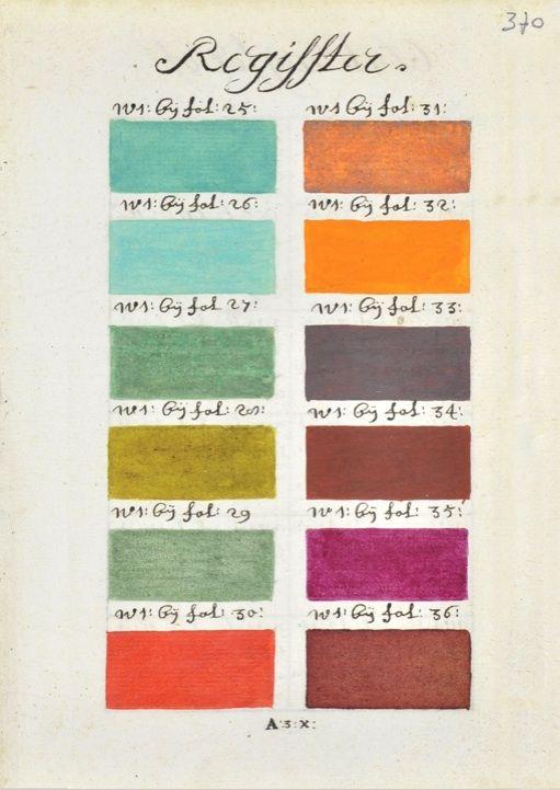 VERMEER'S COLOURS | A 17TH CENTURY PANTONNE CHART | PRINTS | THE SHOP FLOOR PROJECT