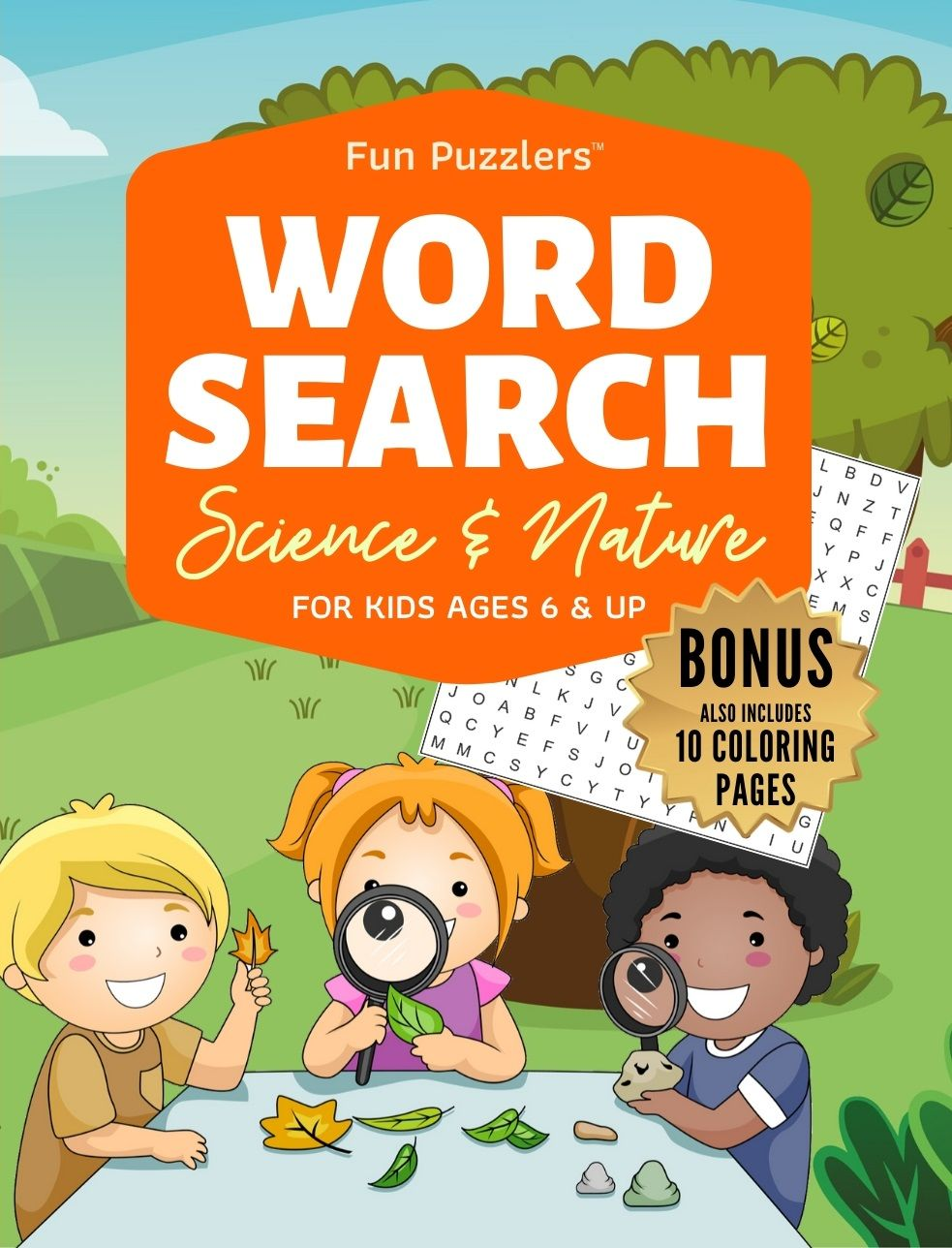 Fun puzzlerstm science nature for kids wordsearch