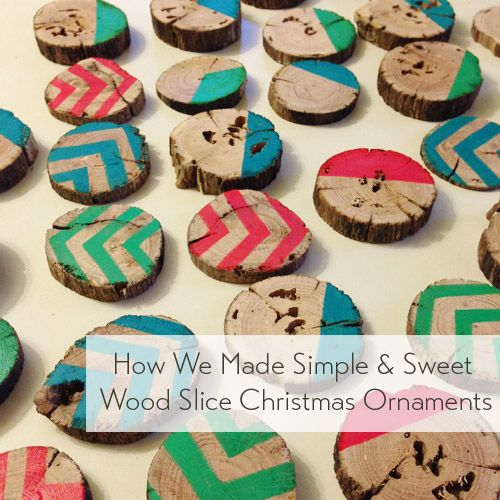 Learn How To Make A Set Of Wood Slice Christmas Tree Ornaments With This Easy Holiday Diy Project