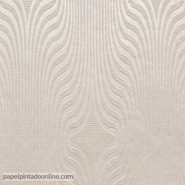 Papel Pintado Uptown Up 03 01 2 De Ondas Verticales En Forma De Rombo Y Con Textura Granulada En Color Champán Papel Pintado Sobres De Papel Empapelados Pared