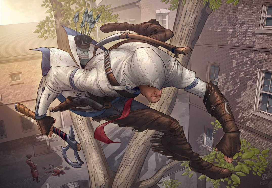 Assassins Creed 3 Fan Art Contest By Patrickbrown On Deviantart Assassins Creed Art Fan Art Illyustrator