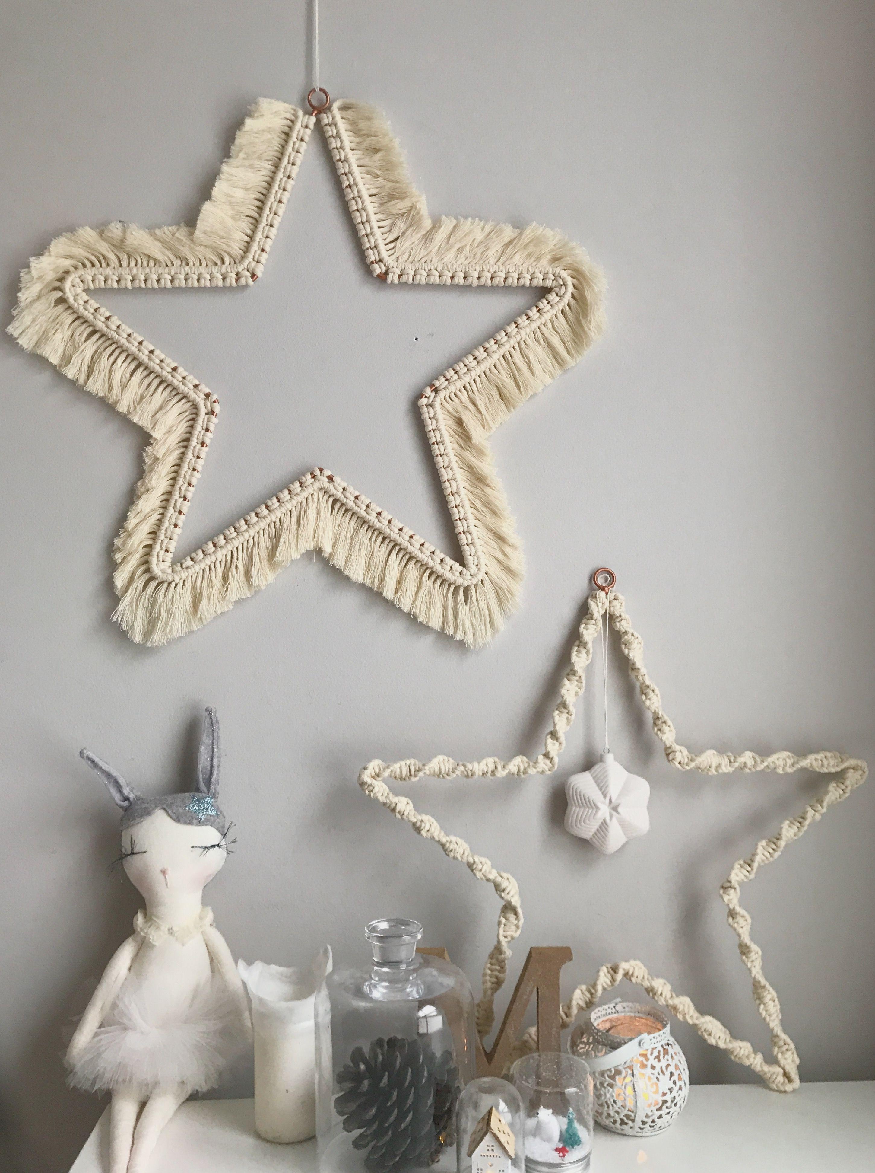 Photo of Macrame Christmas Stars