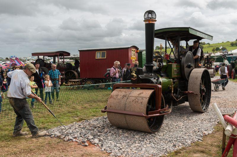 Road building at the Great Dorset Steam... (C) Ian Capper