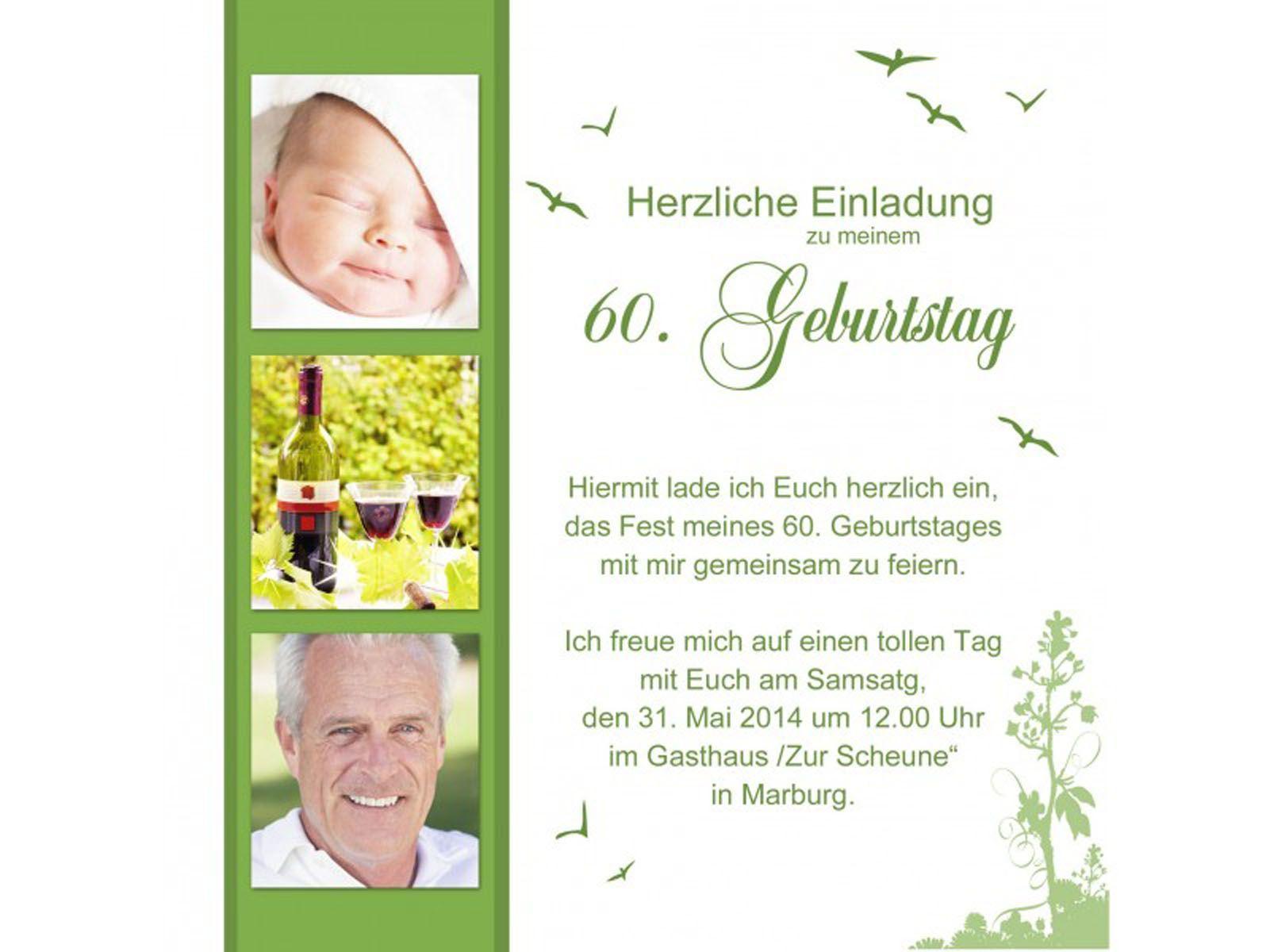 Einladungskarten Geburtstag 60 Einladung 60 Geburtstag