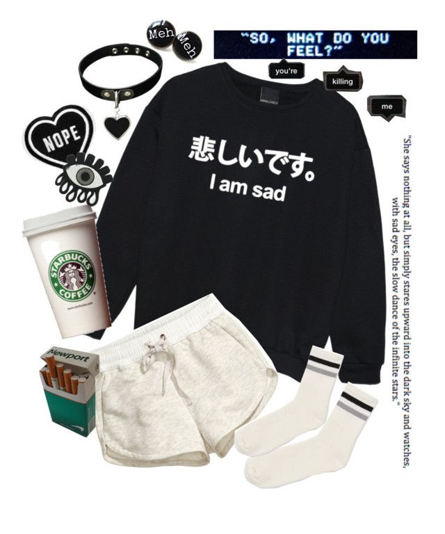 """""""Hurt feelings"""" by neon-life ❤ liked on Polyvore featuring H&M, Topshop, Gipsy, sad, french and poem"""