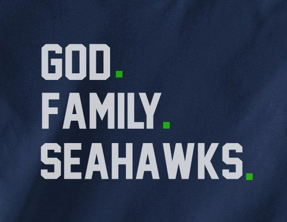 d364dc63588 ... Heart Soul NFL T-Shirt - White God First Family Second Seattle Seahawks  third Jesus is Lord Priorities while having fun Tshirt Tee Nike ...