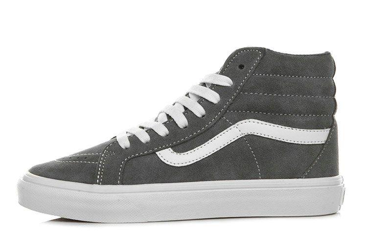 Vans Grey Suede Sk8 Hi Winter Dt Skateboard High Top Vans For Sale Vans Vans High Top Vans Gray Suede