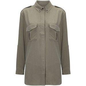 Equipment Olive Silk Major Army Shirt