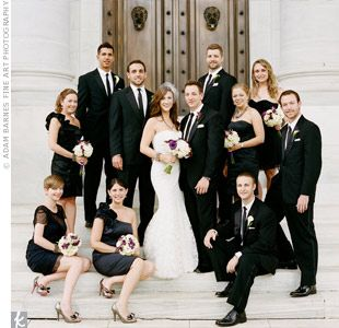 All black Bridal party.. I like! and each lady chooses her own ...