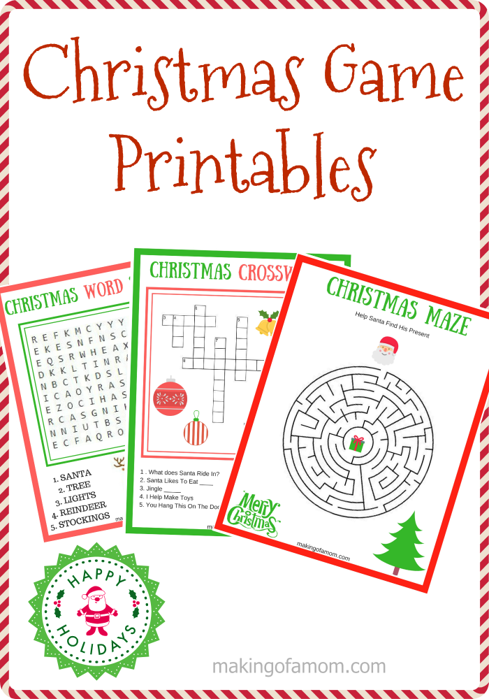 Christmas Word Puzzle, Word Search Printables | Holidappy |Christmas Word Games Free Online