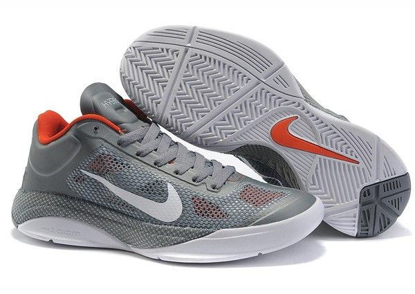 a1abd74ae24ed Jeremy Lin Nike Zoom Hyperfuse Low Shoes (Grey/Red) | Fashion Nike ...