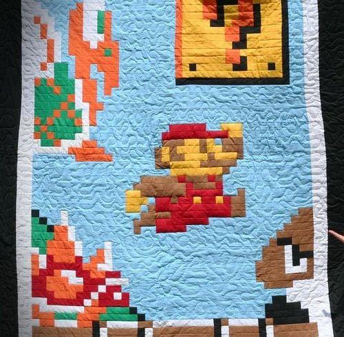 Mario Quilt - Game Over! by pipesdreams, via Flickr | Quilt Ideas ... : mario quilt - Adamdwight.com