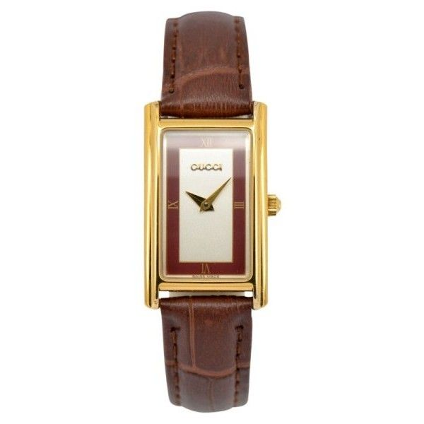 0048d2fd919 Pre-owned Gucci 2600L Gold Plated Quartz 19mm Womens Watch ( 219) ❤ liked  on Polyvore featuring jewelry