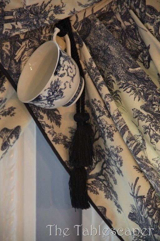 Id' skip the cup, but love the dark trim and tassle on this print