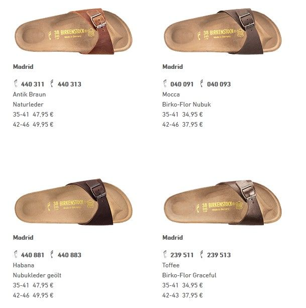 birkenstock madrid antique brown, mocca, habana, graceful toffee