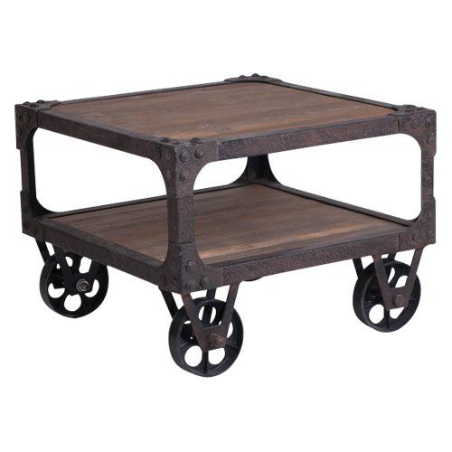 I Say Stain An Old Pallet Attach Wheels Have To It Rustic End Table 676 99