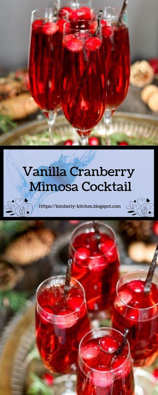 Vanilla Cranberry Mimosa Cocktail Kimberly Kitchen Mimosa Cocktail Fun Drinks Drinks