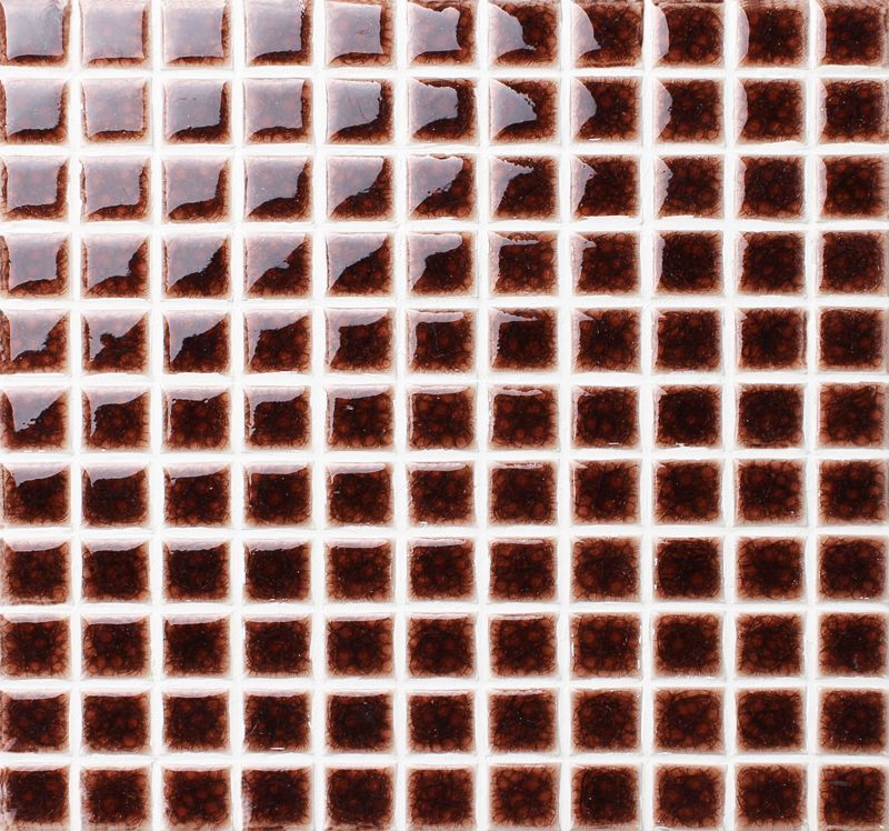 Highly Glossy Surface And Heavy Crackle Texture Makes The Dark Brown Color Tile Top Selling In Our Ceramic Crackle Co Pool Tile Tiles For Sale Mosaic Pool Tile