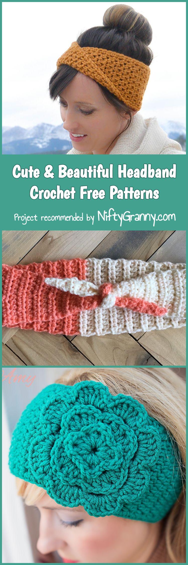 Cute & Beautiful Headband Crochet Free Patterns   crochet