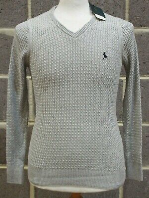Ladies RALPH LAUREN The PIMA Grey V Neck Jumper Sweater Size S/10 BNWT - 232 #fashion #clothing #shoes #accessories #women #womensclothing (ebay link)
