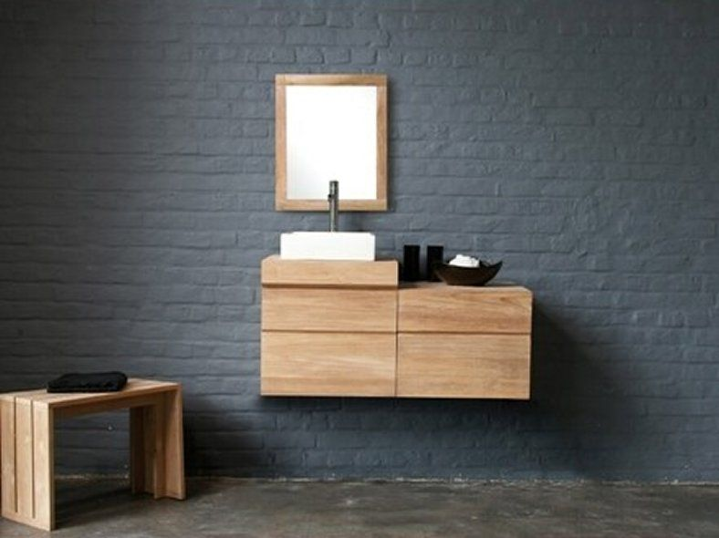 bathroom drawers vanity two floating free modern attractive vanities cabinet teak shipping with tn