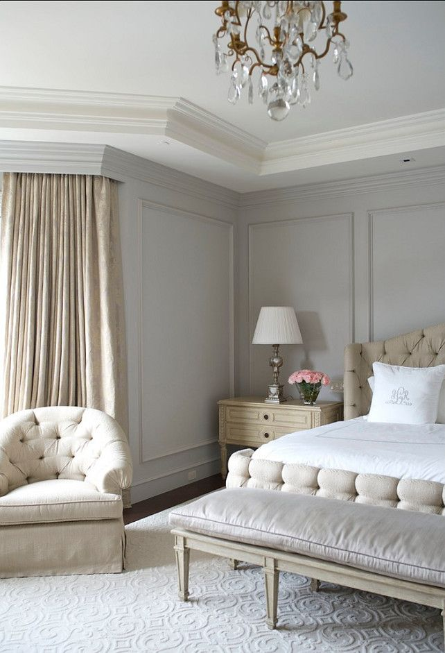 French Style Bedroom In Paint Color Benjamin Moore Wickham Gray Hc 171