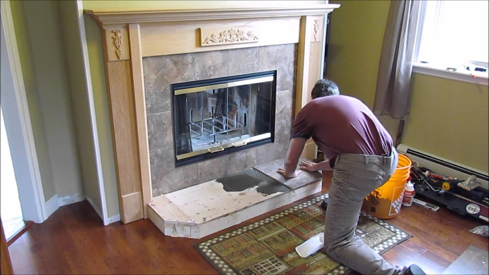 Fireplace install of hearth and tile fireplace ideas