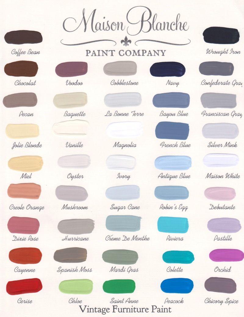 Merveilleux Maison Blanche Paint Company Color Chart #paint #maisonblanchepaint
