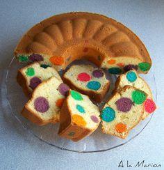 A La Marion Bunter Kugel Kuchen Regenbogen Geburtstag