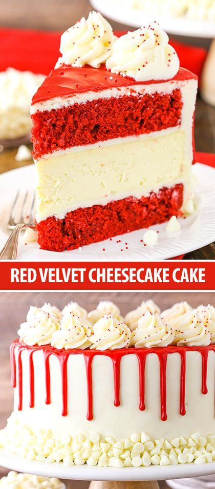 Red Velvet Cheesecake Cake -