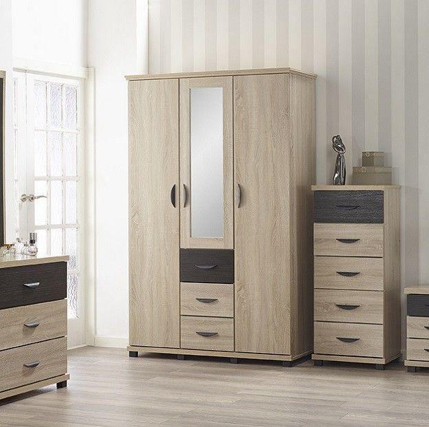 Dominic 3 Door Wardrobe Cupboard Design Wardrobe Door Designs Bedroom Cupboard Designs