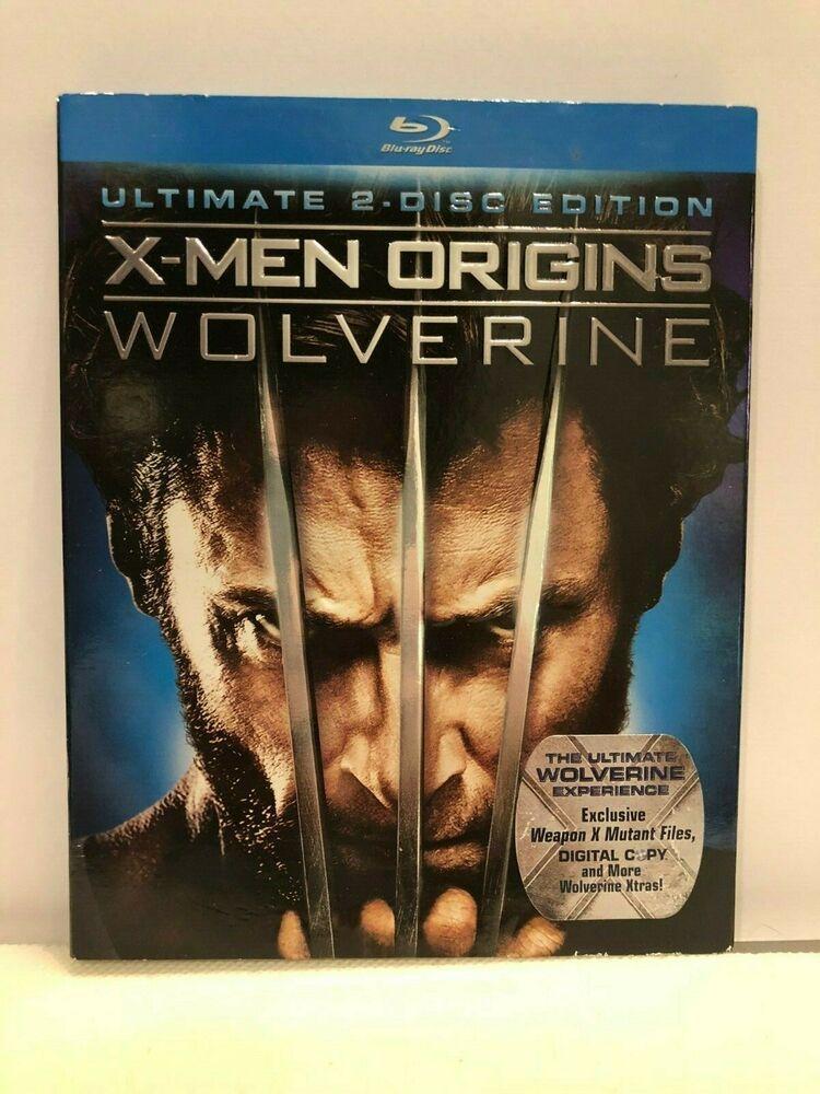 X Men Origins Wolverine Blu Ray 2009 Ultimate 2 Disc Edition W Slip Cover X Men Wolverine Blu Ray