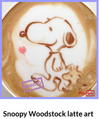 Snoopy Woodstock latte art at http://pinverts.com/Snoopy-Woodstock-latte-art_ssh9ndu