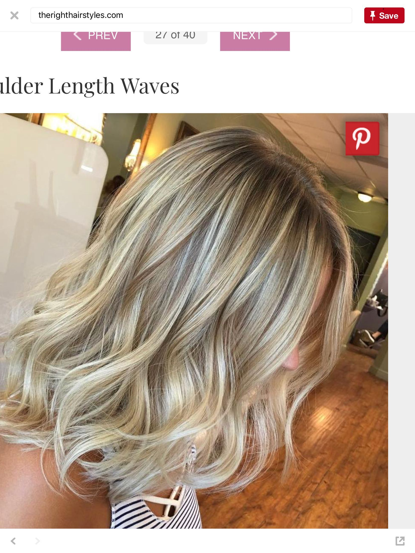 Shoulder Length Blonde Beach Waves Beach Wave Hair Shoulder Length Blonde Midlength Haircuts