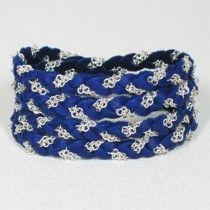 Braided Twist Wrap bracelet (Blueberry) $46
