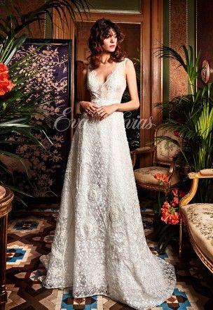 vestido de novia modelo enebro. yolancris colección 2017 en eva