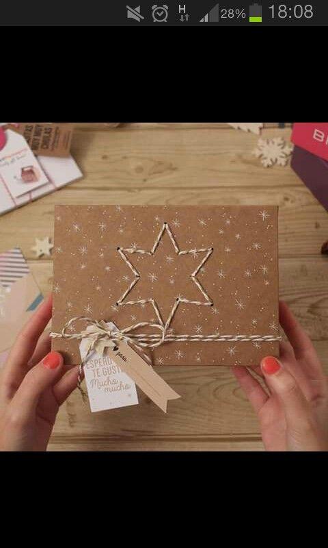 Idea para postales diy de navidad