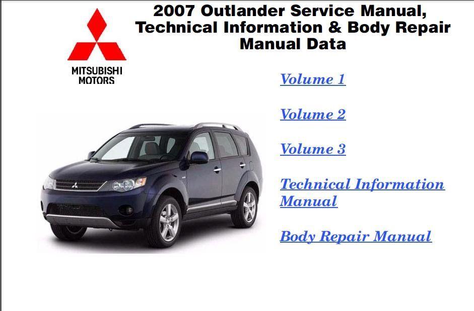 mitsubishi outlander workshop manual pdf