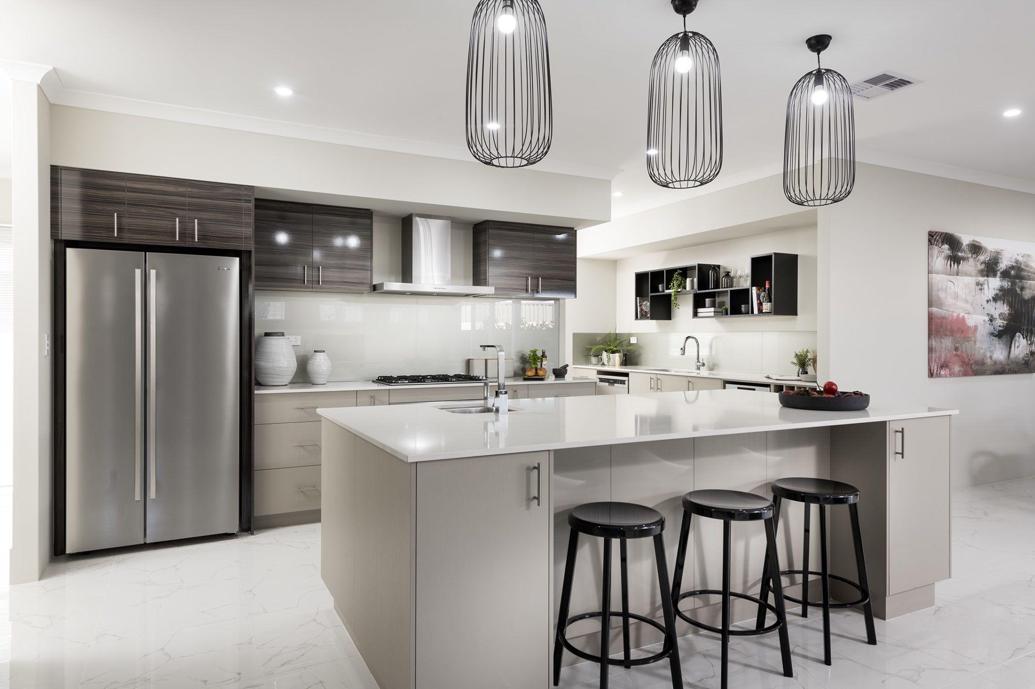 Home White gloss kitchen, White kitchen appliances