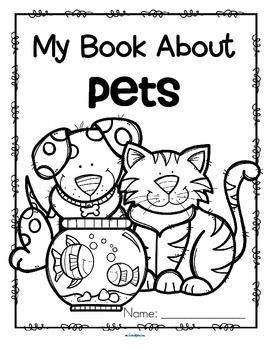 Pets Activity Printables For Preschool Read Color And Draw