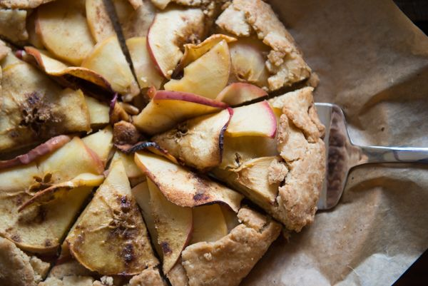 Rustic Autumn Glory Apple Galette - This vegan and gluten free recipe is one of the simplest apple desserts you can make.  Recipe from Lindsey at Café Johnsonia, using Pamela's Bread mix.